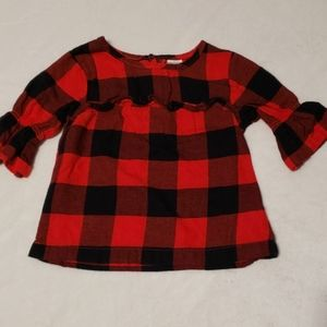 Bell sleeved flannel